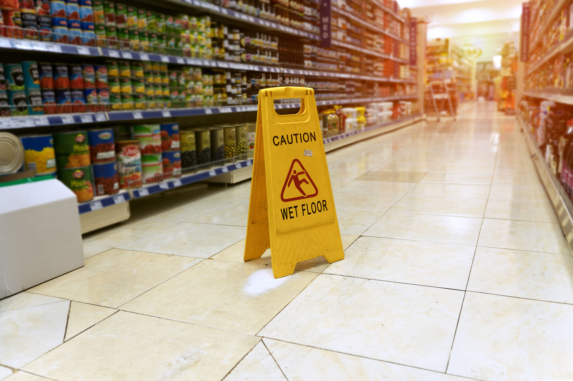 Slips, Trips & Falls in public, supermarkets, shops and shopping centres