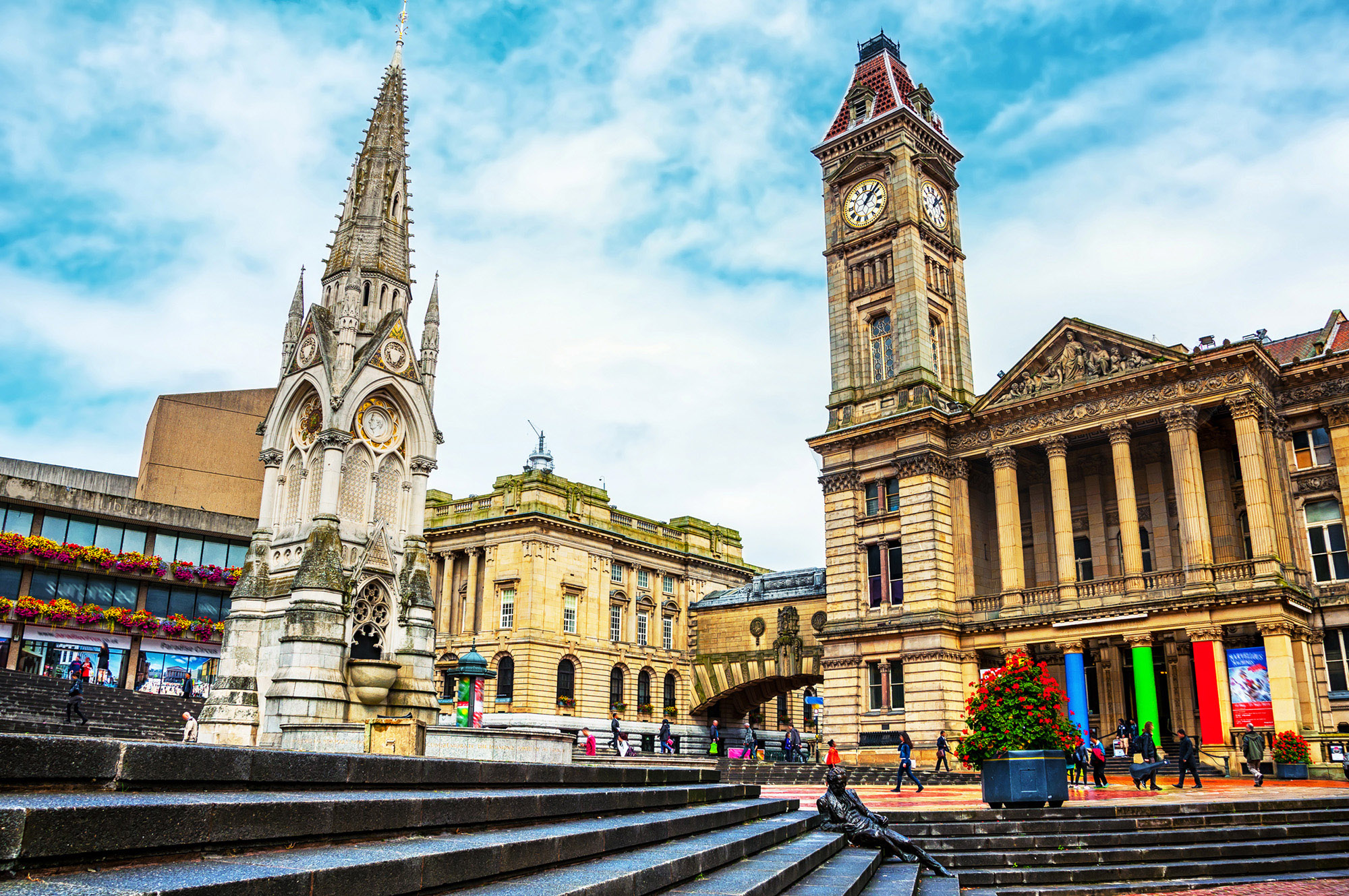 Chamberlain Square in Birmingham, UK