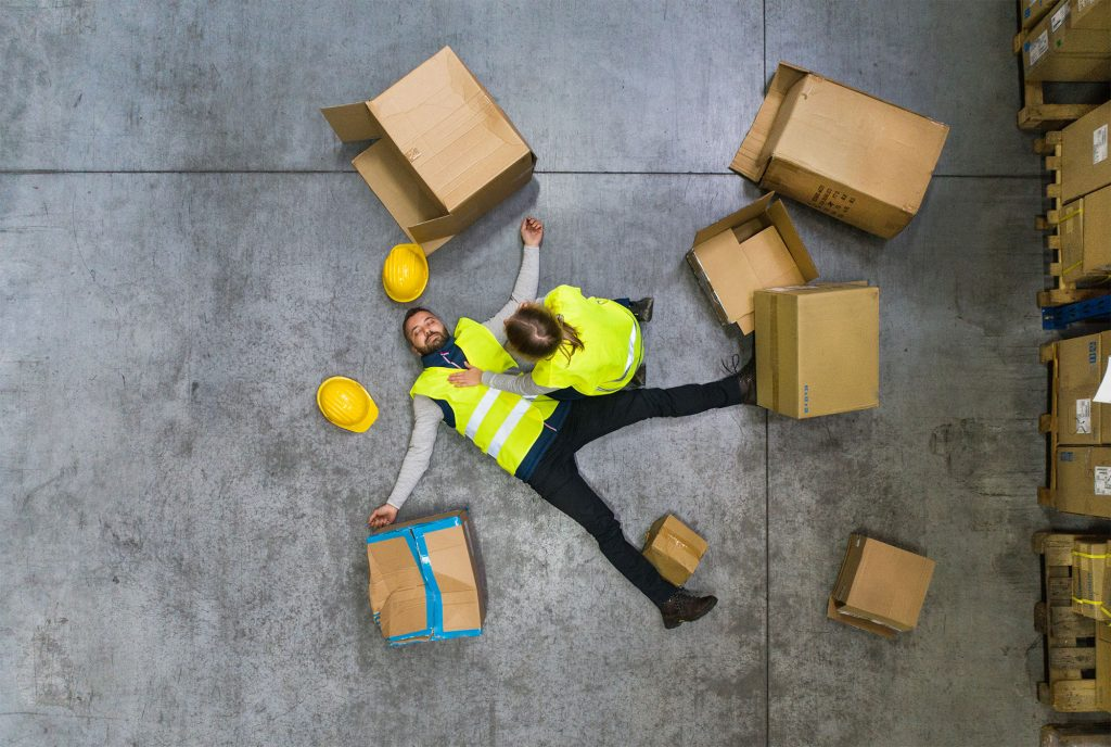 slip, trip, fall at the workplace - personal injury compensation